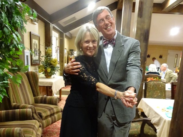 Linda and Andy Haynes enjoyed the holiday party